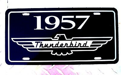 1957 Ford THUNDERBIRD metal License plate tag 57 CLASSIC BABY BIRD T-bird