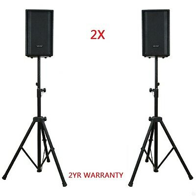 2X Speaker Stands Heavy Duty Adjustable Studio Monitor Pair Tripod Band DJ