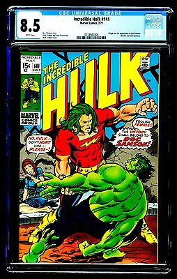 Incredible Hulk #141 Cgc 8.5 Origin And 1St Appearance Of Doc Samson White Pages