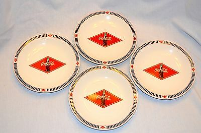 """4 Coca-Cola 2003 Checkered Racing Plates 7.5"""" by Gibson"""