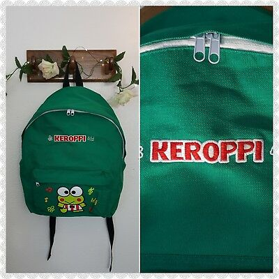 Vintage 90s SANRIO KEROPPI Green Large School College Collecters RARE Backpack!
