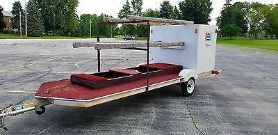 Vintage Mercury Racing Hydroplane Triple 3 Boat Trailer W/ Motor Box  No Reserve