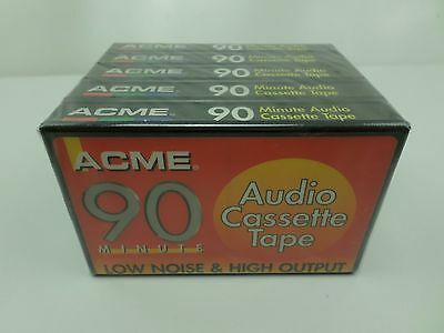 ACME  90 Blank Audio Cassette Tapes x 5 (Brand New And Sealed)   T1