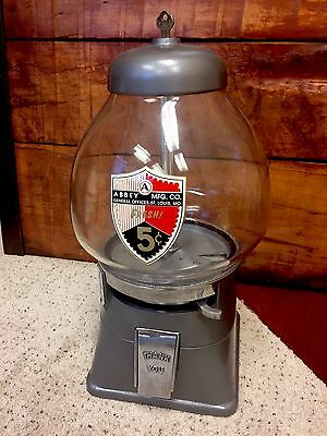 Vintage Gumball Machine - Working And Restored - Abbey Mfg.