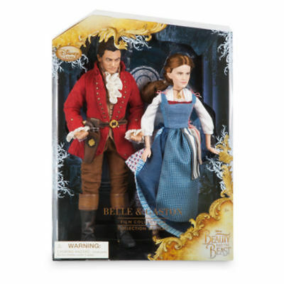 NEW! Disney Store Beauty and the Beast Live Action Film Belle & Gaston Doll Set