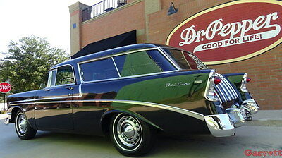 1956 Chevrolet Bel Air/150/210 NOMAD 1956 Chevrolet BelAir Nomad Sport Wagon Onyx Black 265 & OVERDRIVE classic Chevy