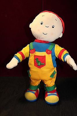 "Dancing Cinar Caillou doll Bilingual English French interactive doll 15"" tall"