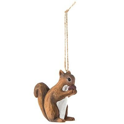 Carved Squirrel Ornament