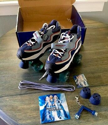 Britney Spears Roller Skates 4Wheelers Size 9 Blue Red With Box