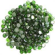 Pebbles Green Glass Nuggets Tuscan Path 1kg  Garden Outdoor Stylish Home DIY