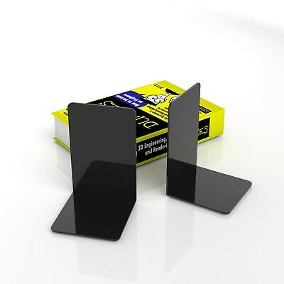 Gloss Black Acrylic Bookends / Bookends Organiser Stand / Office / School