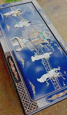 Chinese superb hand painted  lacquer occasional/coffee  table see pic STUNNING