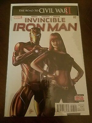 Invincible Iron Man #7 Marvel Comics 2016 Iron Heart 1st Riri Williams Avengers