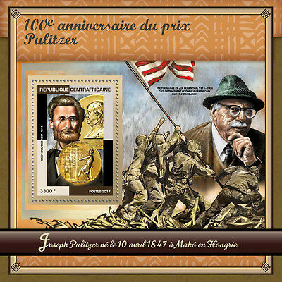 Central African Rep 2017 MNH Pulitzer Prize 100th Joe Rosenthal 1v S/S Stamps