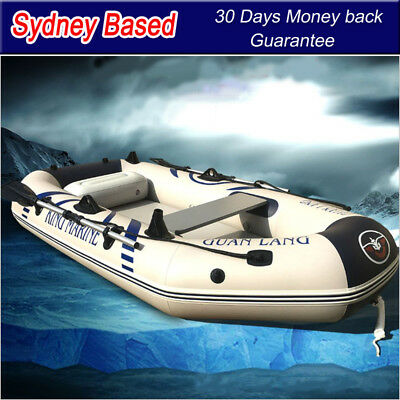 Inflatable Boat Fishing Raft Tender Dinghy 3 person Kaya with air deck Floor