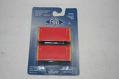 Auscision HO 20' Hi-Cube Containers Twin Pack - Patrick - New in Pack