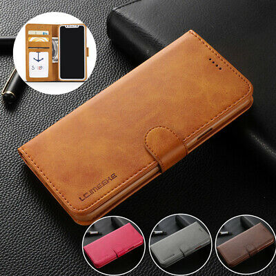 Ultra Thin Luxury Leather Flip Wallet Case Cover For Samsung S8 S9 S10 Plus J6