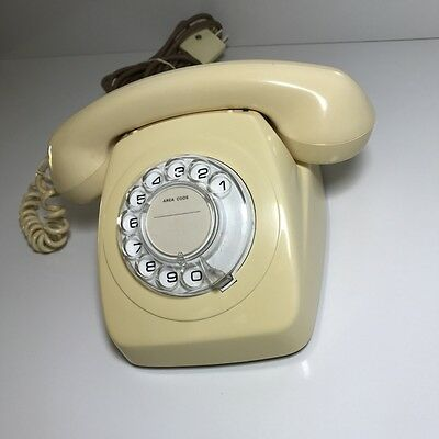 1970's Telecom Rotary Telephone 802 S1/231 Dial Up, Old 'Phone Vintage Retro