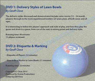 Lawn Bowls Coaching DVDs - The Delivery Style/Ettiquette and Marking Zone 0 DVDs
