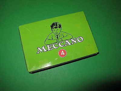 Meccano No 4 Set small parts tin in excellent condition.  circa 1964