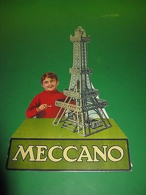 Meccano repro Eiffel Tower standup, and another.