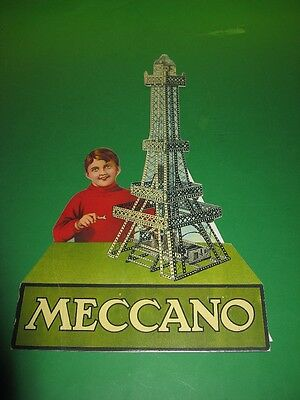 Meccano repro teens Eiffel Tower Showcard, and another.
