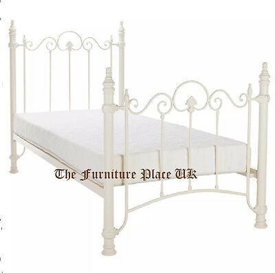 Florence Metal Bed Frame In Cream Single 3ft 90cm  Free Delivery