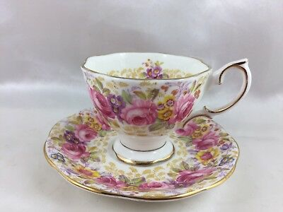 *Exquisite Vintage Royal Albert ''Serena'' Demitasse Cup and Saucer