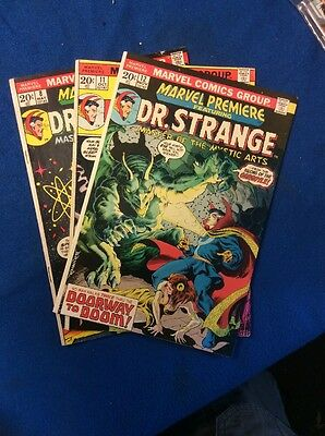 Marvel Premiere Featuring Dr. Strange Lot: 3 Books No.8,11and 12 By Marvel
