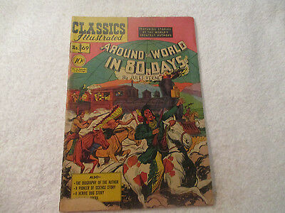 "1950  Vintage Classics Illustrated Issue #69 ""around The World In 80 Days"""