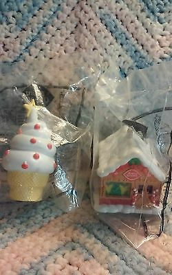 1997 Dairy Queen Ornaments Ice Cream Cone & Home Sweet Sealed In Pkg !!!