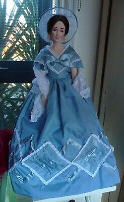 Franklin Mint Melanie GWTW Porcelain Doll - 18 Inches - PERFECT CONDITION!