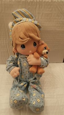 NEW Precious Moments Musical Pull-Down Doll~Boy-Pajamas/Bear~Twinkle, Twinkle