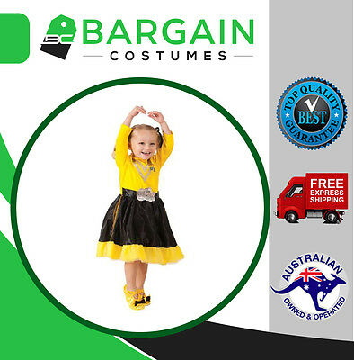 Emma Wiggle Dress Up Party Kids Book Week Halloween The Wiggles Girls Costume