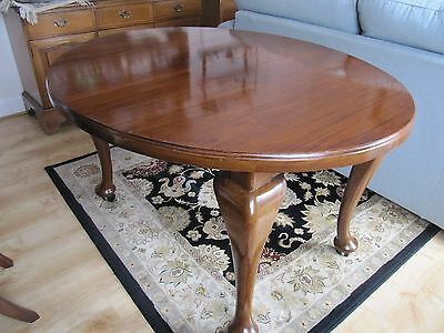 Edwardian Mahogany dining table and chairs.