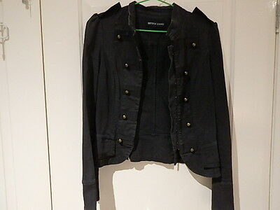 Rare Original Vintage Bettina Liano Black Denim Sz 10 Princess Hugging Jacket