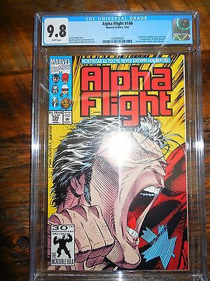 Alpha Flight #106 CGC 9.8 Original Owner 3/92 1st Appearance Major Maple Leaf