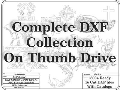 DXF CNC dxf for Plasma Router Clip Art Vector Complete DXF Collection