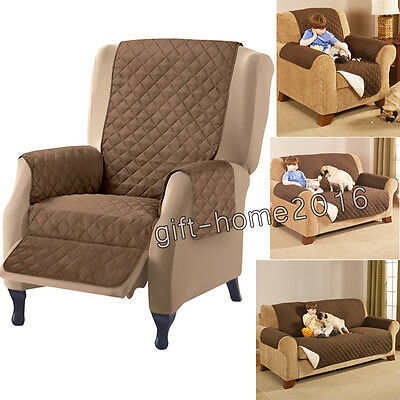 Nonslip Sofa Furniture Stain Protector Cover Recliner For 1 2 3 Seaters
