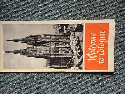 Vintage German Travel Brochures Map Guide Tourism History Cologne  1930s