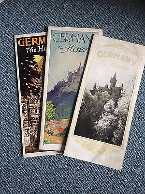 Vintage German Travel Brochures Map Guide History The Harz Hitler 1936 Olympics