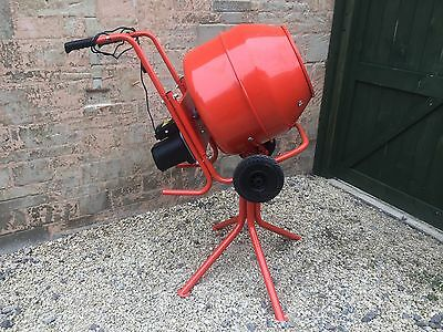 Electric Cement Mixer + Stand used once (NOT BELLE)