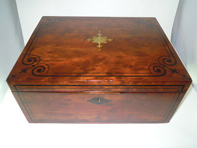 REGENCY MAHOGANY WRITING SLOPE WITH CARRY HANDLES c1790-1830