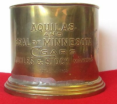 1902 BRASS AQUILAS & SEAL of MINNESOTA CIGARS KUHLES & STOCK MAKERS STORE DISPL?