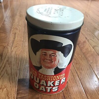 Vintage 1982 Quaker Oats Limited Edition Advertising Tin Canister