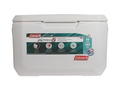 Coleman 70 Qt. Coastal Extreme Marine Cooler Thick Insulation Outdoor Ice Chest