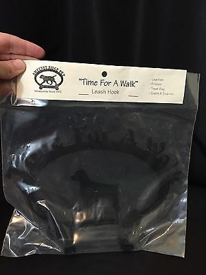 """Puppy Dog Leash Holder Hook Sweeney Ridge Pet """"Time For A Walk"""" Brittany NEW"""