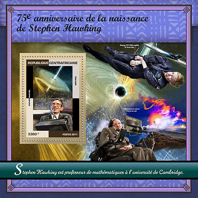 Central African Rep 2017 MNH Stephen Hawking 1v S/S Space Physics Stamps