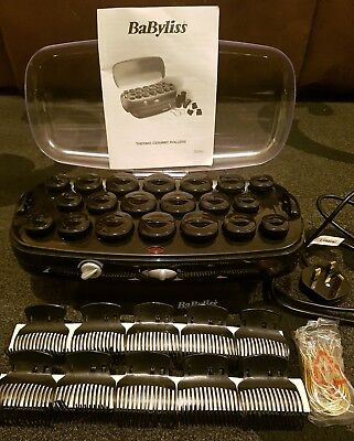 Babyliss, 20 Heated Hair Rollers, 3045 Thermo Ceramic, Clips & Pins. Boxed