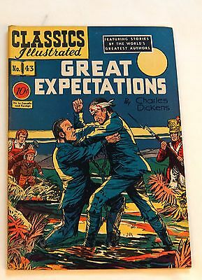 Classics Illustrated 1st edition -  #43 - Great Expectations FN Overstreet=$250